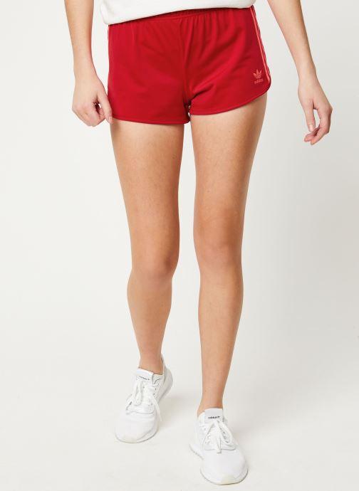Vêtements adidas originals 3 Stripes Short Rouge vue détail/paire