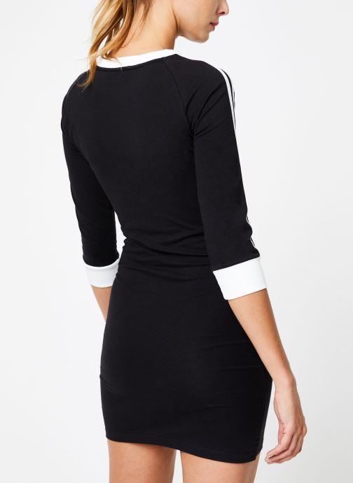 Vêtements adidas originals 3 Stripes Dress Noir vue portées chaussures