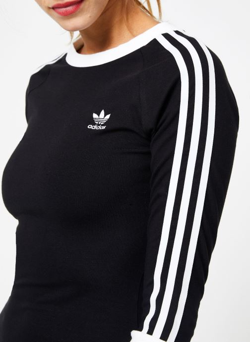 Kleding adidas originals 3 Stripes Dress Zwart voorkant