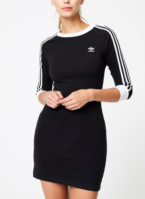 Kleding adidas originals 3 Stripes Dress Zwart rechts