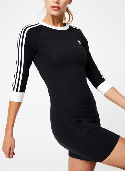 Kleding adidas originals 3 Stripes Dress Zwart detail