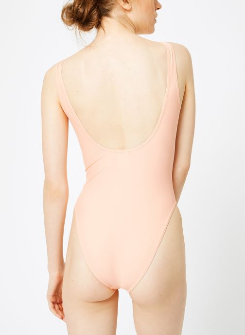 Kleding adidas originals Trf Swimsuit Roze model