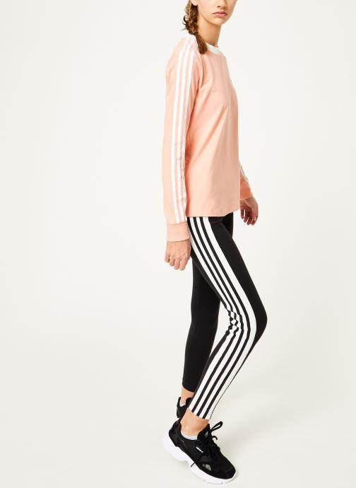 Kleding adidas originals 3 Stripes Ls Tee Roze onder
