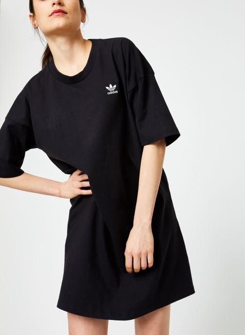 Vêtements adidas originals Trefoil Dress Noir vue détail/paire