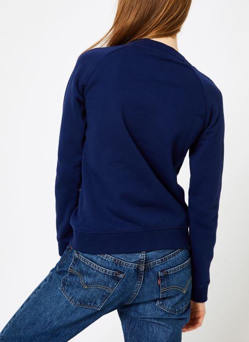 Kleding adidas originals Trf Crew Sweat Blauw model