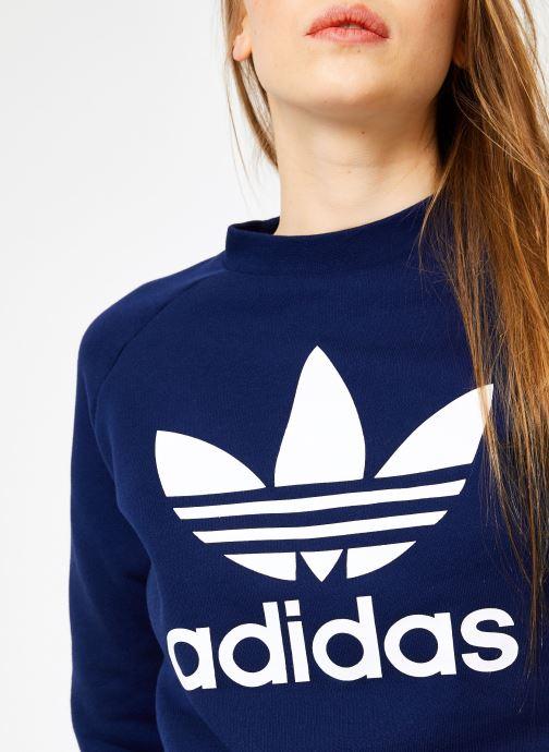Kleding adidas originals Trf Crew Sweat Blauw voorkant