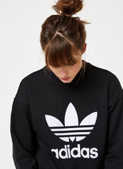 Vêtements adidas originals Trf Crew Sweat Noir vue face