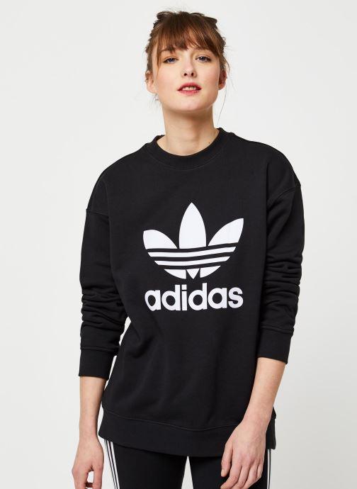 Vêtements adidas originals Trf Crew Sweat Noir vue droite