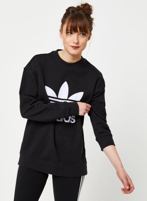 Vêtements adidas originals Trf Crew Sweat Noir vue détail/paire