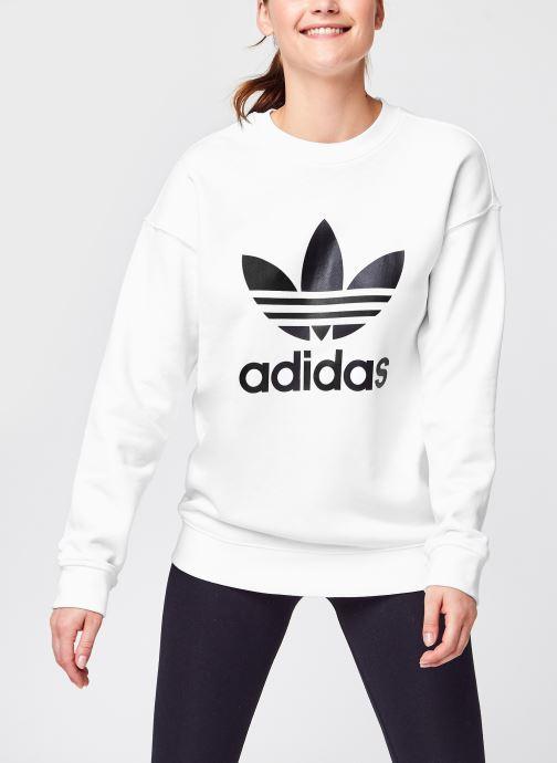 Vêtements adidas originals Trf Crew Sweat Blanc vue détail/paire