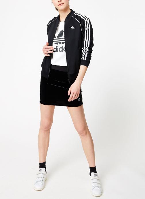 Tøj adidas originals 3 Stripes Skirt Sort se forneden