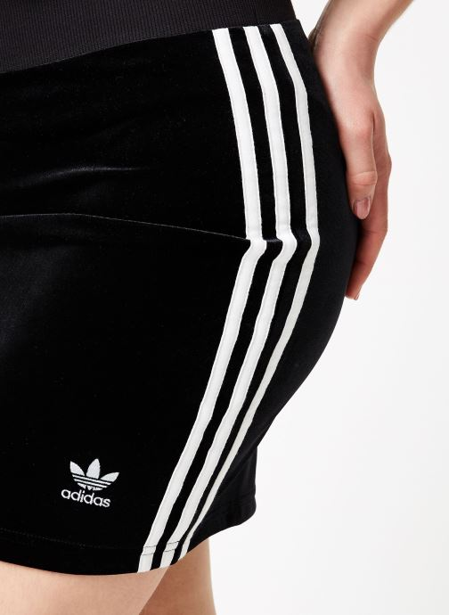 Tøj adidas originals 3 Stripes Skirt Sort se forfra