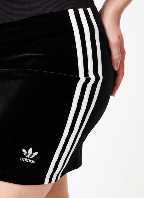 Tøj adidas originals 3 Stripes Skirt Sort se forfra