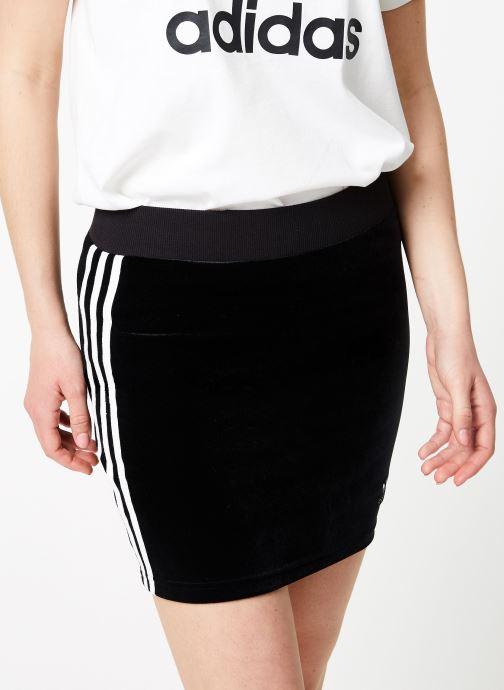 Vêtements adidas originals 3 Stripes Skirt Noir vue détail/paire