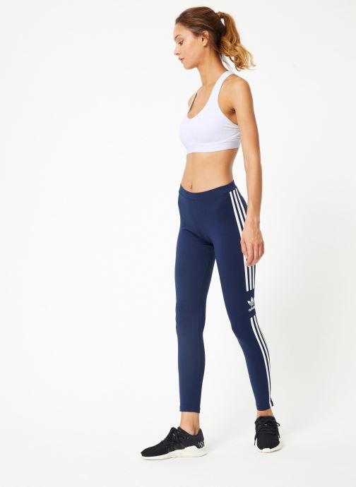 Vêtements adidas originals Trefoil Tight Bleu vue bas / vue portée sac