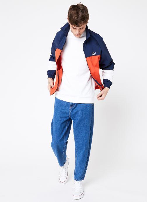 Vêtements adidas originals Blocked Warm Up Orange vue bas / vue portée sac