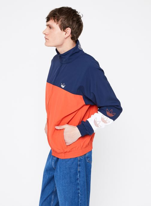 Vêtements adidas originals Blocked Warm Up Orange vue droite