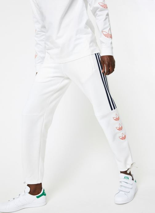 Vêtements adidas originals Ft Sweatpant Blanc vue détail/paire
