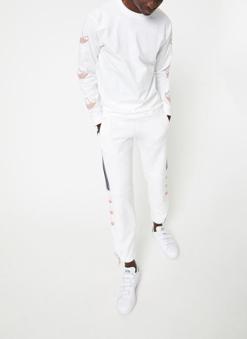 Tøj adidas originals Ls Trefoil Tee Hvid se forneden