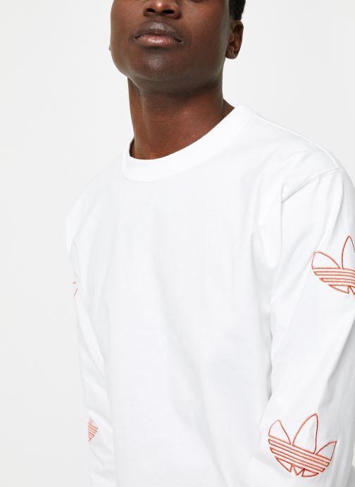 Tøj adidas originals Ls Trefoil Tee Hvid se forfra