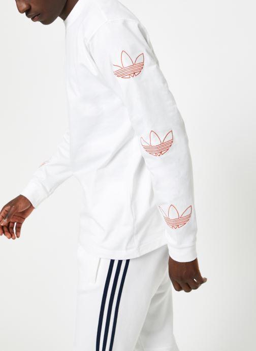 Tøj adidas originals Ls Trefoil Tee Hvid Se fra højre