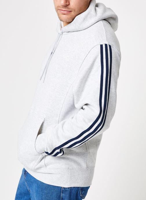 Vêtements adidas originals Ft Bball Hoody Blanc vue droite