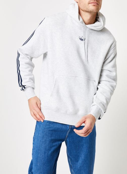 Vêtements adidas originals Ft Bball Hoody Blanc vue détail/paire