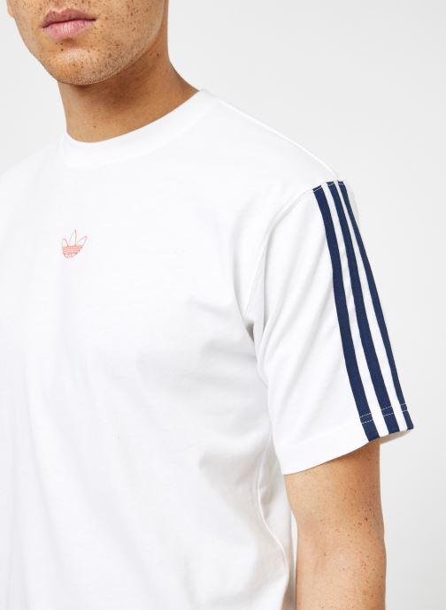 Kläder Adidas Originals Floating Tee Vit bild från framsidan