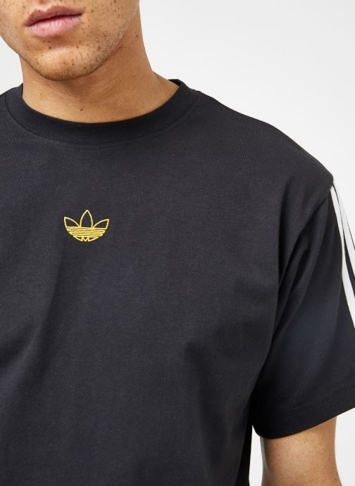 Kläder Adidas Originals Floating Tee Svart bild från framsidan