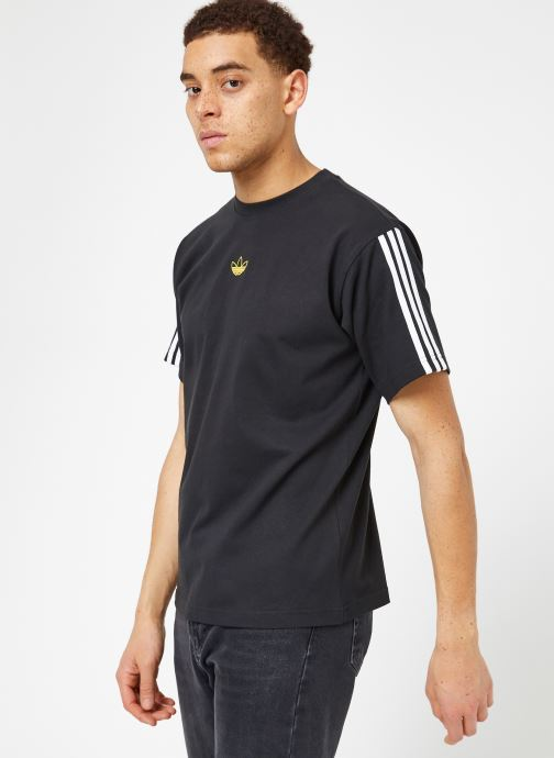 Ropa Adidas Originals Floating Tee Negro vista lateral derecha