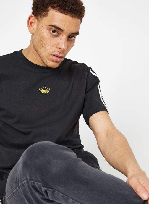 Kläder Adidas Originals Floating Tee Svart detaljerad bild på paret