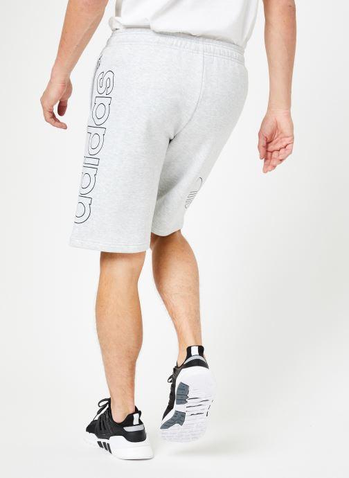 Vêtements adidas originals Ft Otln Short Blanc vue portées chaussures