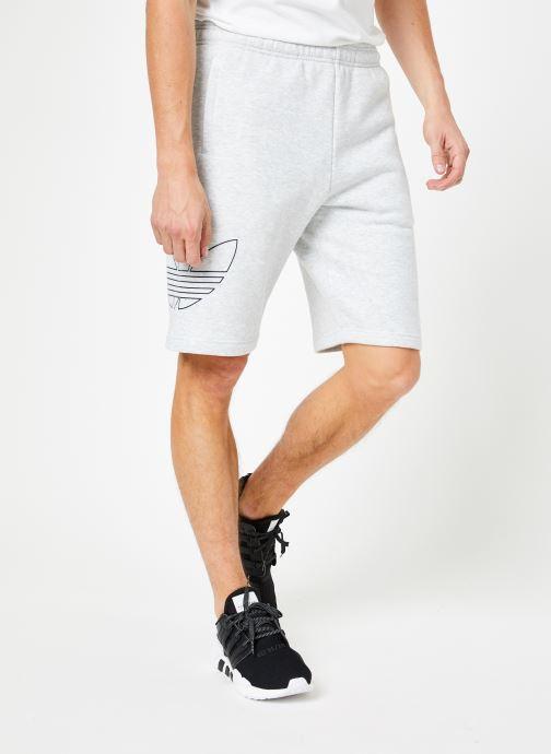 Vêtements adidas originals Ft Otln Short Blanc vue détail/paire