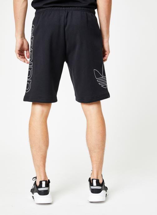 Vêtements adidas originals Ft Otln Short Noir vue portées chaussures