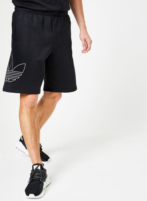 Vêtements adidas originals Ft Otln Short Noir vue détail/paire