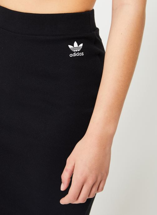 Kleding adidas originals Sc Midi Skirt Zwart voorkant