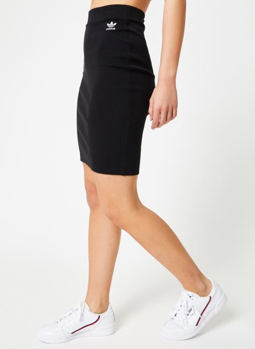 Kleding adidas originals Sc Midi Skirt Zwart detail