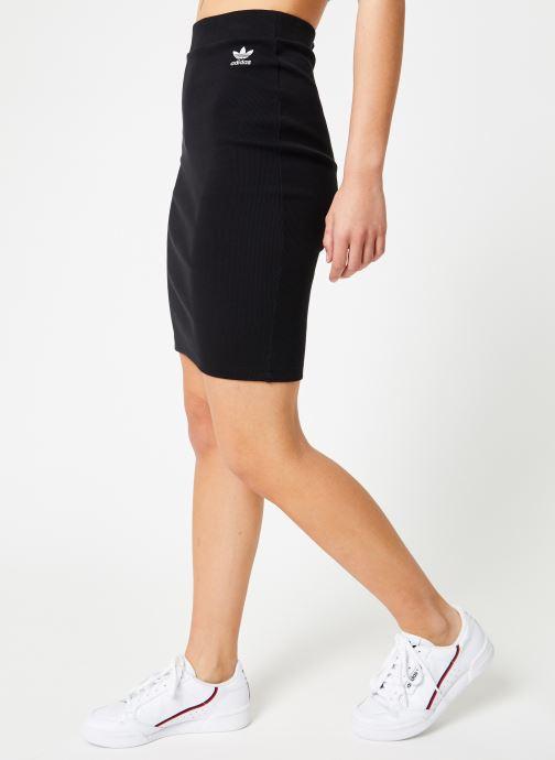 Tøj adidas originals Sc Midi Skirt Sort detaljeret billede af skoene