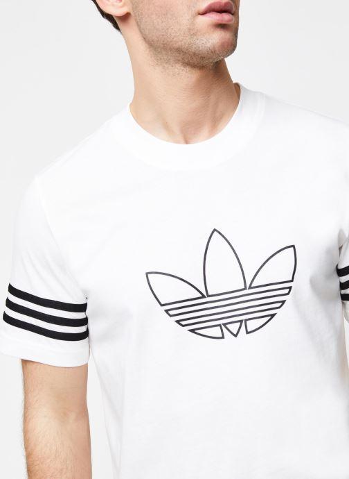Vêtements adidas originals Outline Tee Blanc vue face