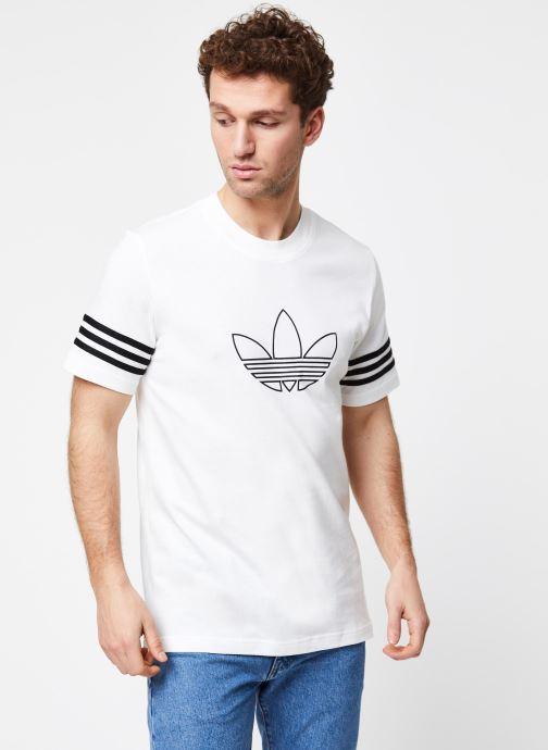 Vêtements adidas originals Outline Tee Blanc vue droite