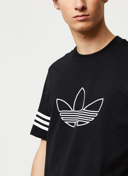 Vêtements adidas originals Outline Tee Noir vue face