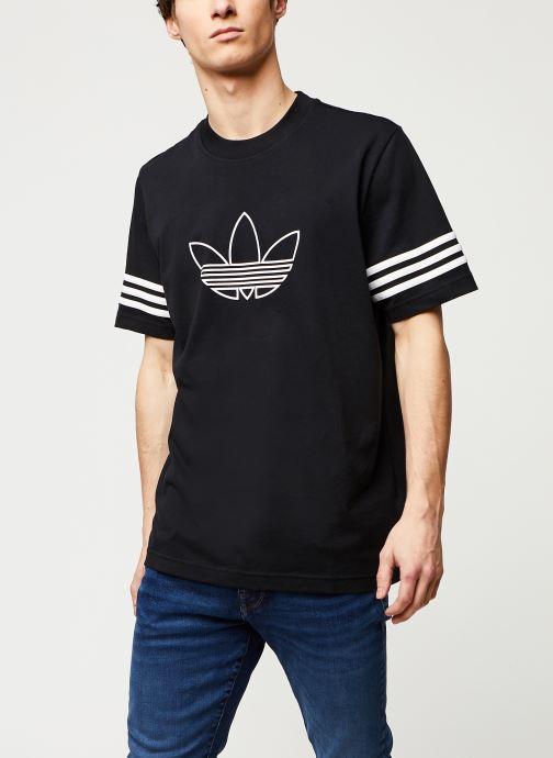 Vêtements adidas originals Outline Tee Noir vue droite