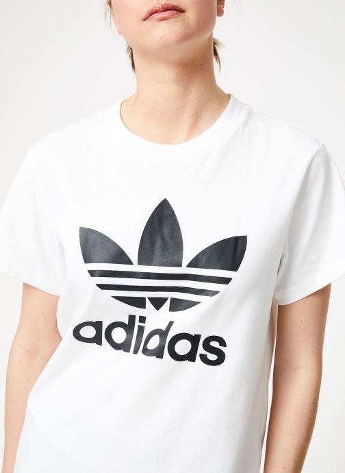 Vêtements adidas originals Boyfriend Tee Blanc vue face
