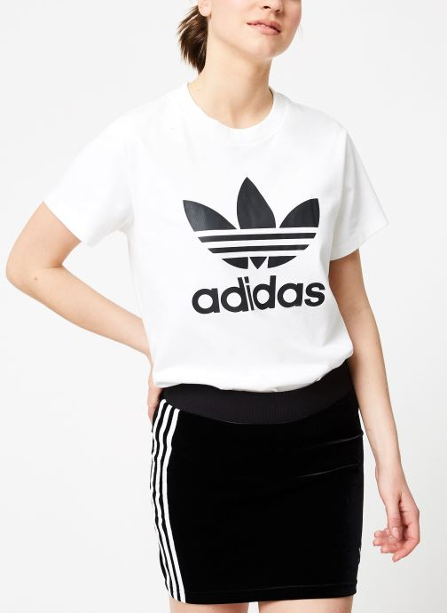 Vêtements adidas originals Boyfriend Tee Blanc vue droite