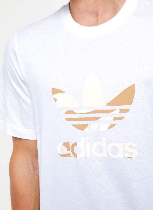 Vêtements adidas originals Camo Infill Tee Blanc vue face