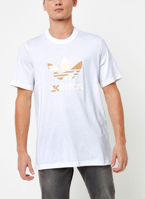 Vêtements adidas originals Camo Infill Tee Blanc vue droite