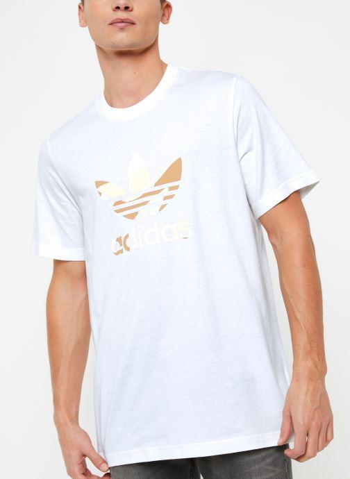 Vêtements adidas originals Camo Infill Tee Blanc vue détail/paire