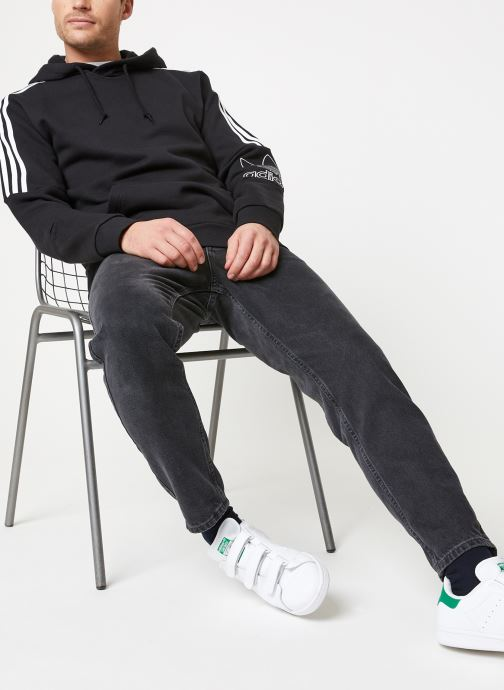 Tøj adidas originals Outline Hoodie Sort se forneden