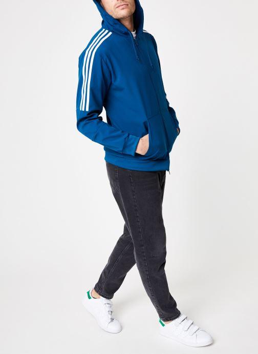 Kleding adidas originals Outline Fz Hood Blauw onder