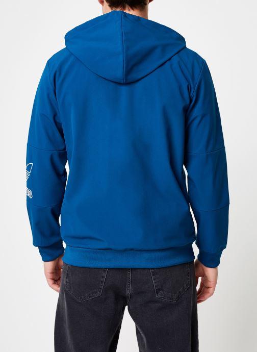 Kleding adidas originals Outline Fz Hood Blauw model